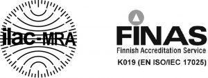 SFS – ISO/IEC 17025 FINAS certification.